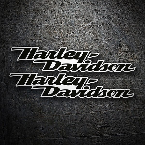Car & Motorbike Stickers: Kit Harley Davidson black aerodynamics