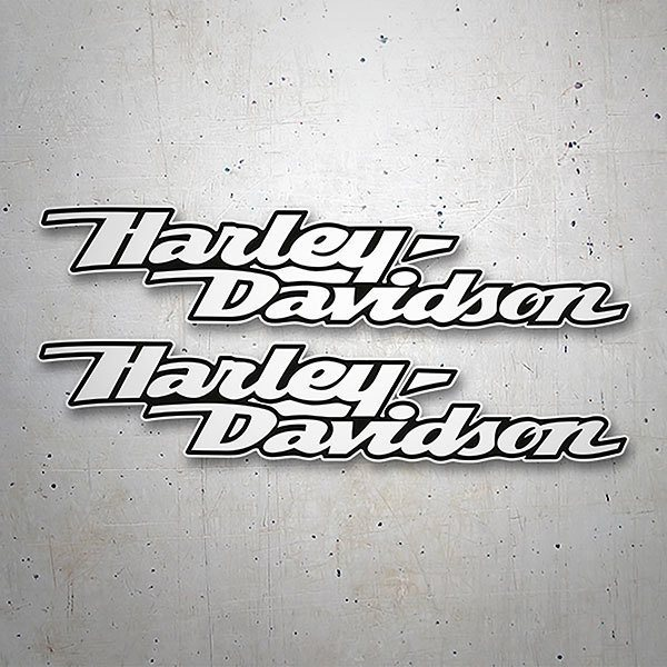 Car & Motorbike Stickers: Kit Harley Davidson white aerodynamics
