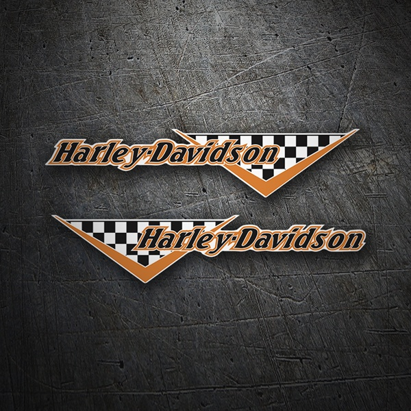Car & Motorbike Stickers: Kit Harley Davidson flag checkers