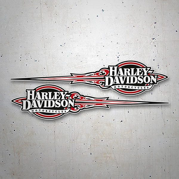 Car & Motorbike Stickers: Kit Harley Davidson Red Adrenaline
