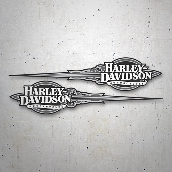 Car & Motorbike Stickers: Kit Harley Davidson grey Adrenaline