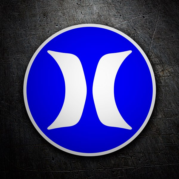 Car & Motorbike Stickers: Hurley blue