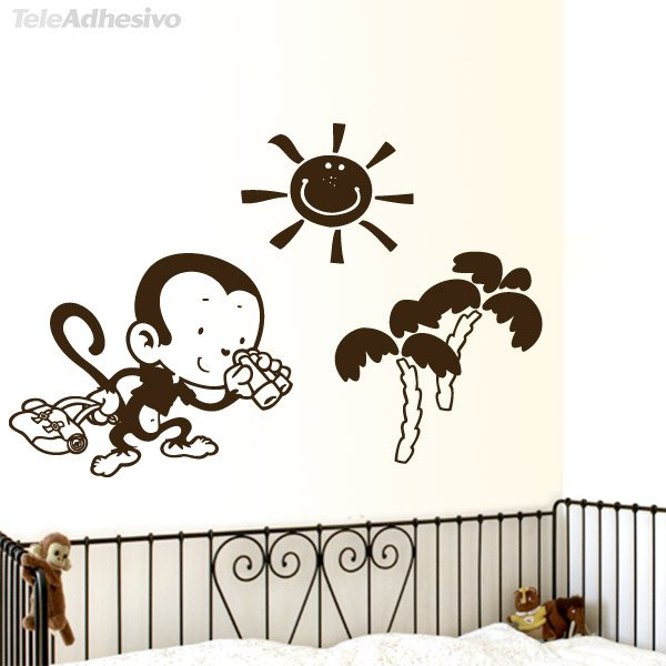 Stickers for Kids: Adventurous monkey