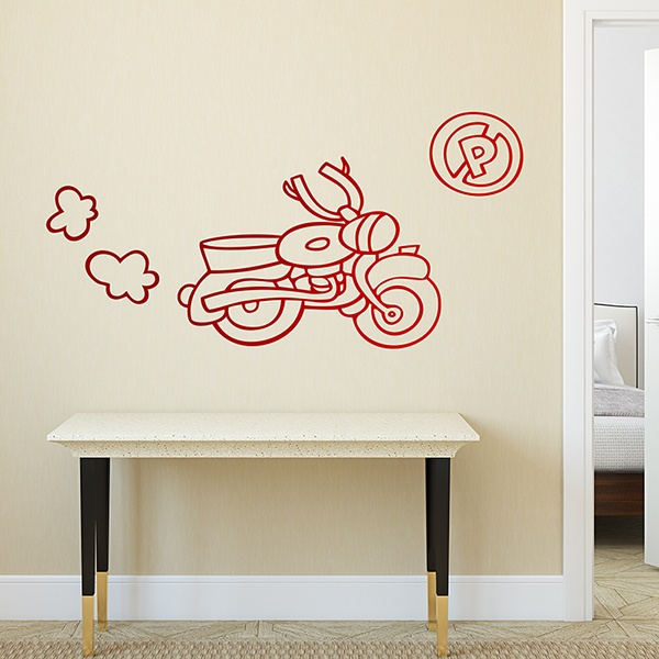 Stickers for Kids: Motorcycle