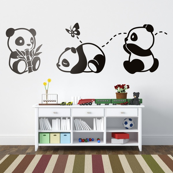 Stickers for Kids: The three pandas