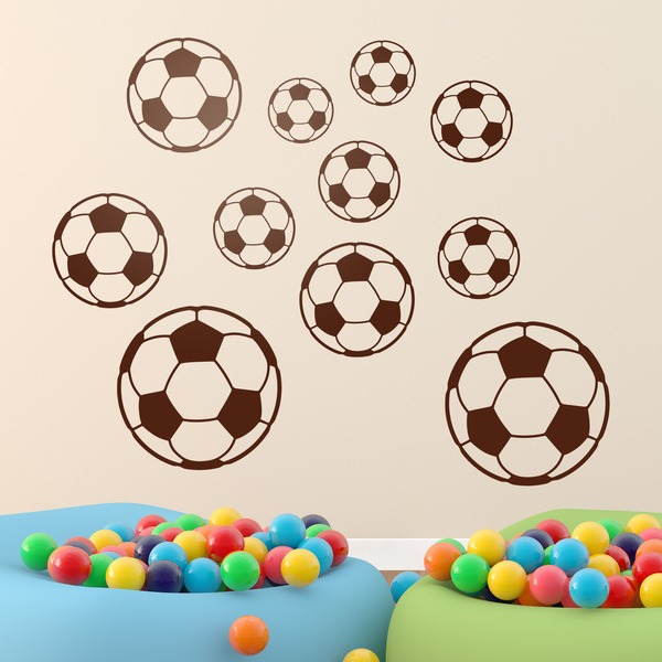 Stickers for Kids: Kit soccer balls