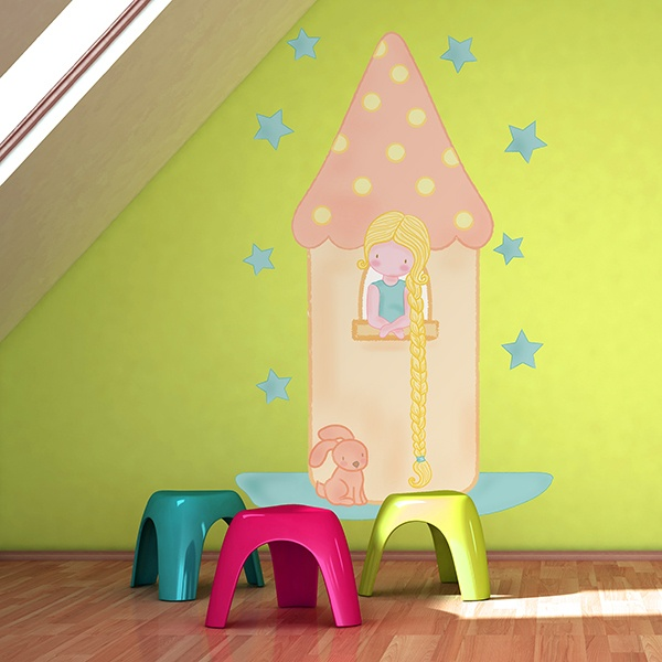 Stickers for Kids: Rapunzel in the tower