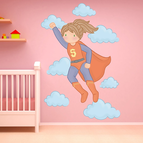 Stickers for Kids: Super Girl