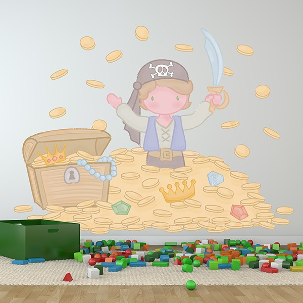 Stickers for Kids: Great pirate treasure