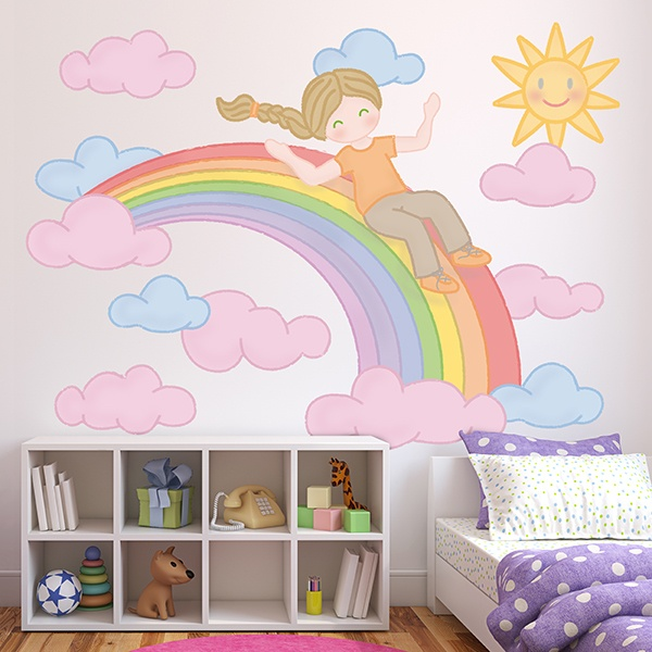 Stickers for Kids: Slide over the Rainbow