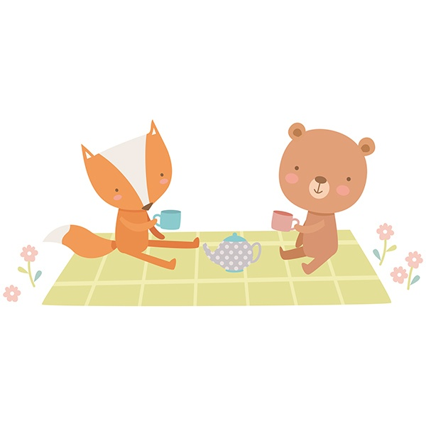 Stickers for Kids: Animals Picnic