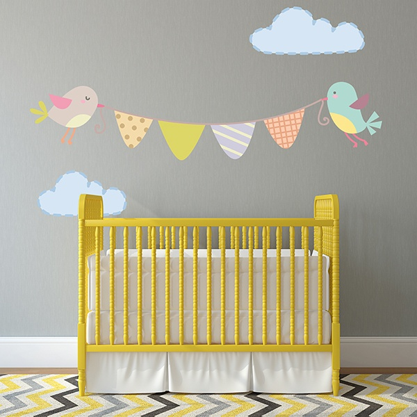Stickers for Kids: Little birds Garland