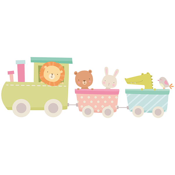 Stickers for Kids: Animal train 0