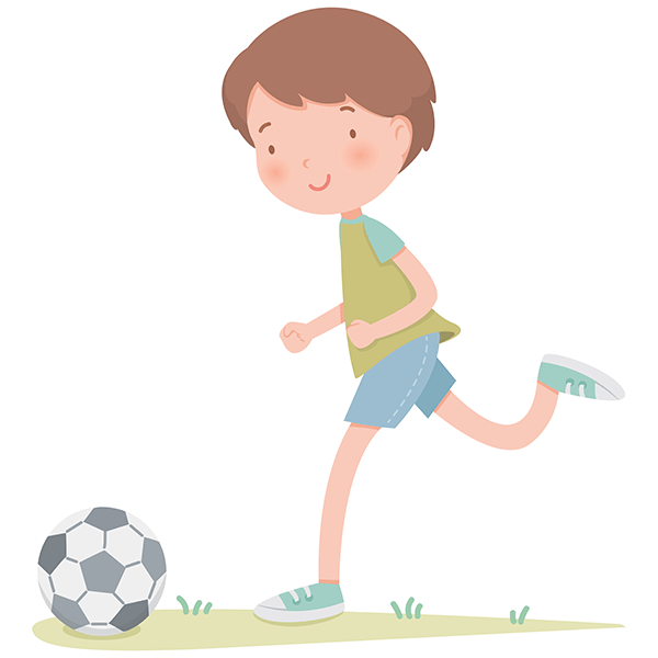 Stickers for Kids: Playing football