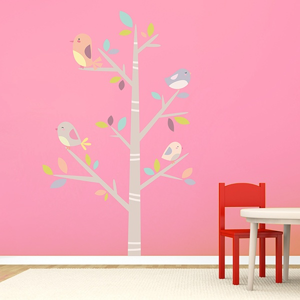 Stickers for Kids: Tree of birds