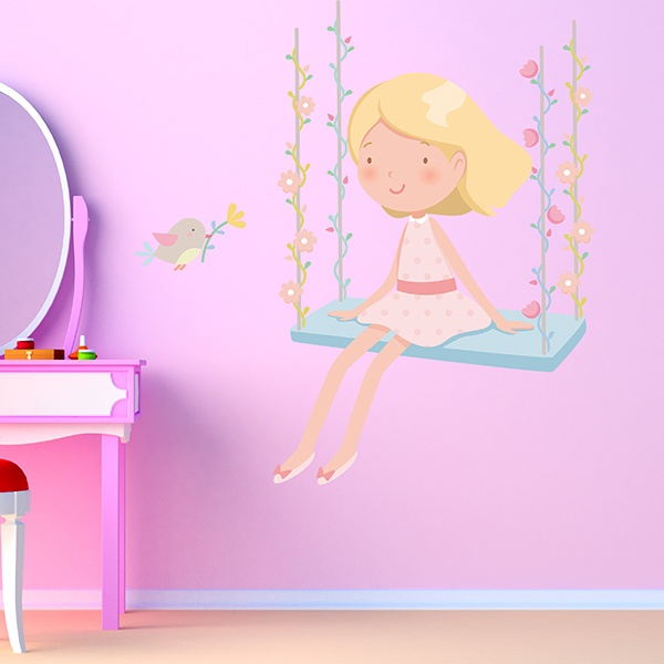 Stickers for Kids: Girl on the swing 1