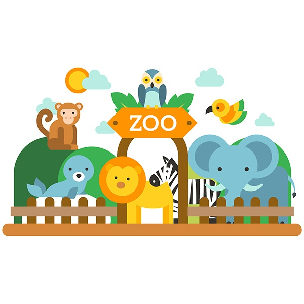 Stickers for Kids: Child Zoo