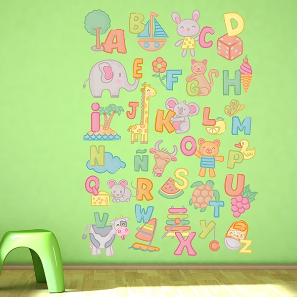 Wall Stickers: Alphabet child