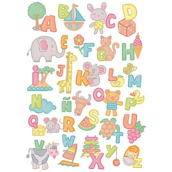 Wall Stickers: Child alphabet
