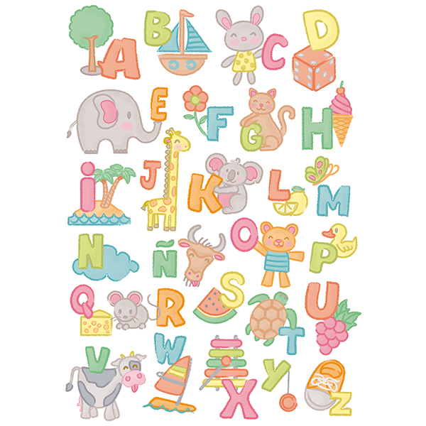 Wall Stickers: Child alphabet 0