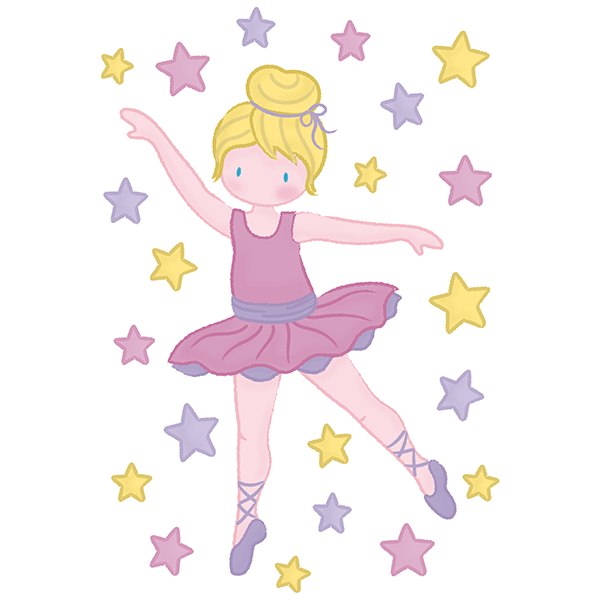 Stickers for Kids: Ballerina