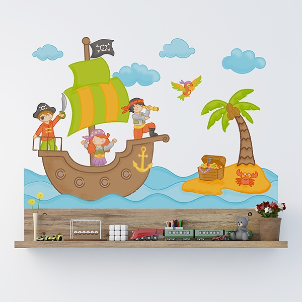 Stickers for Kids: The pirate treasure 1