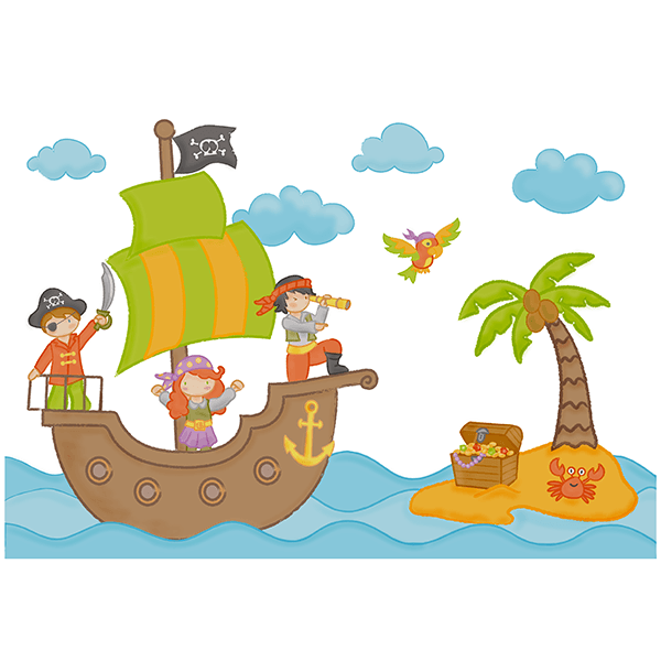 Stickers for Kids: The pirate treasure