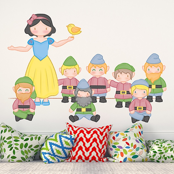 Stickers for Kids: Snow white and the seven dwarfs 0