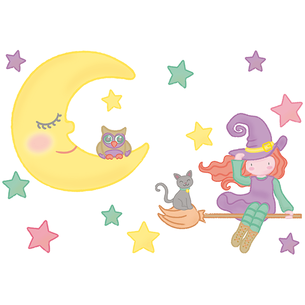 Stickers for Kids: The Witch of the Moon
