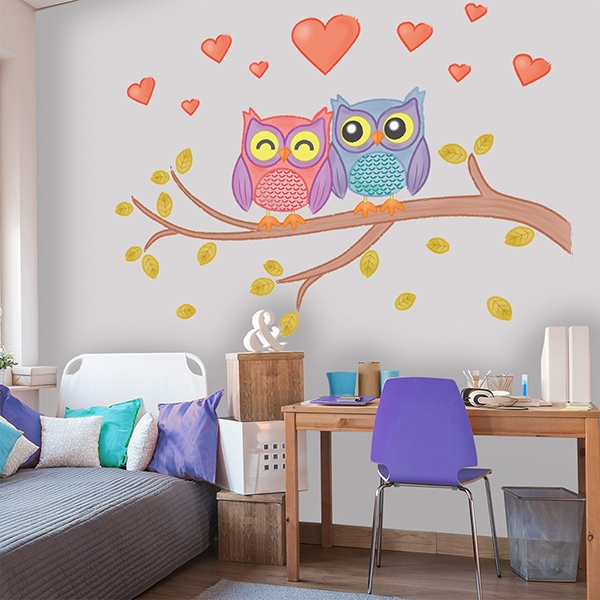 Stickers for Kids: Owls in love