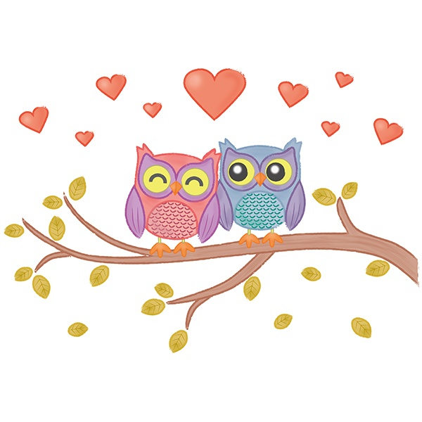 Stickers for Kids: Love owls