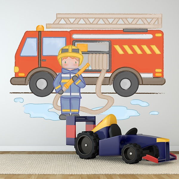 Stickers for Kids: Fireman with helmet