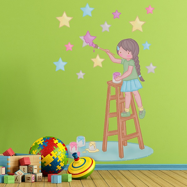 Stickers for Kids: Painting the stars 1
