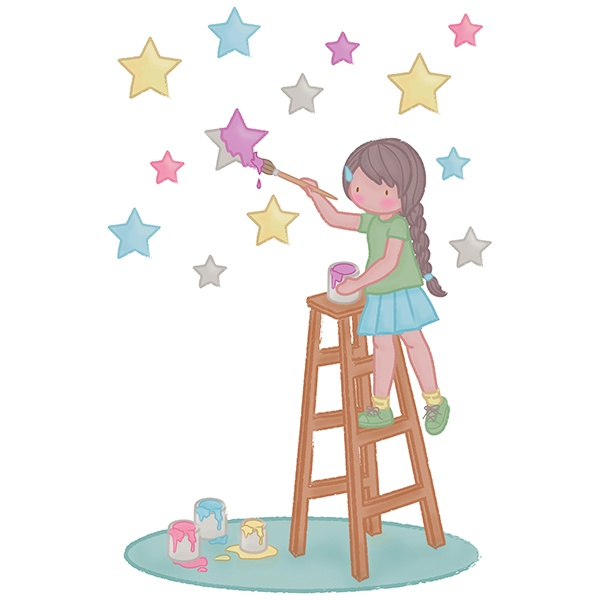 Stickers for Kids: Painting the stars