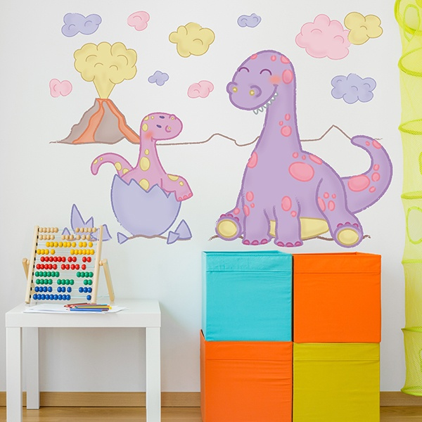 Stickers for Kids: Birth baby dinosaur