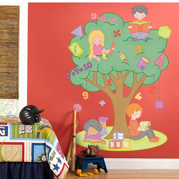 Stickers for Kids: The tree of mathematics