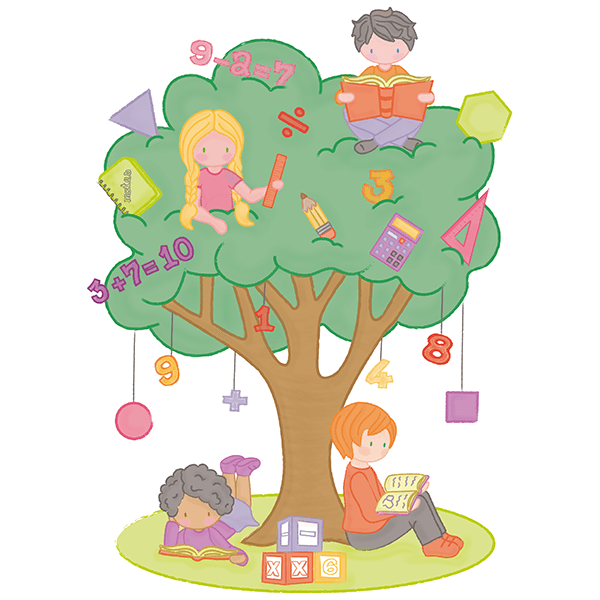 Stickers for Kids: Mathematics tree