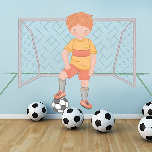 Stickers for Kids: Football player