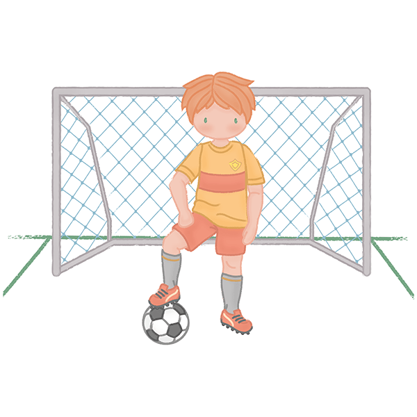 Stickers for Kids: Football player boy