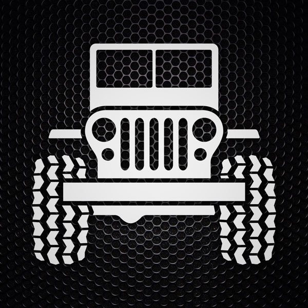 Car & Motorbike Stickers: Jeep Tractor