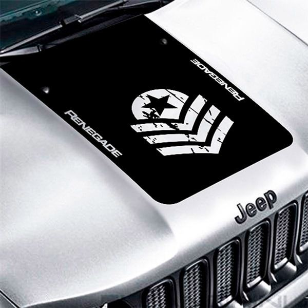 Car & Motorbike Stickers: Jeep Renegade Worn Out