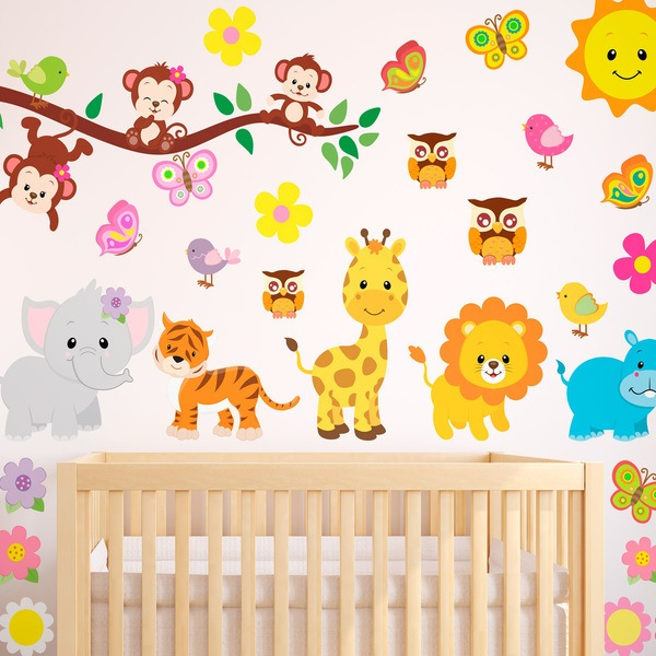 Stickers for Kids: Animal Kit of the jungle