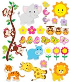 Stickers for Kids: Animal Kit of the jungle 5