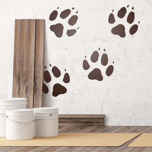 Wall Stickers: Kit 4 Dog tracks