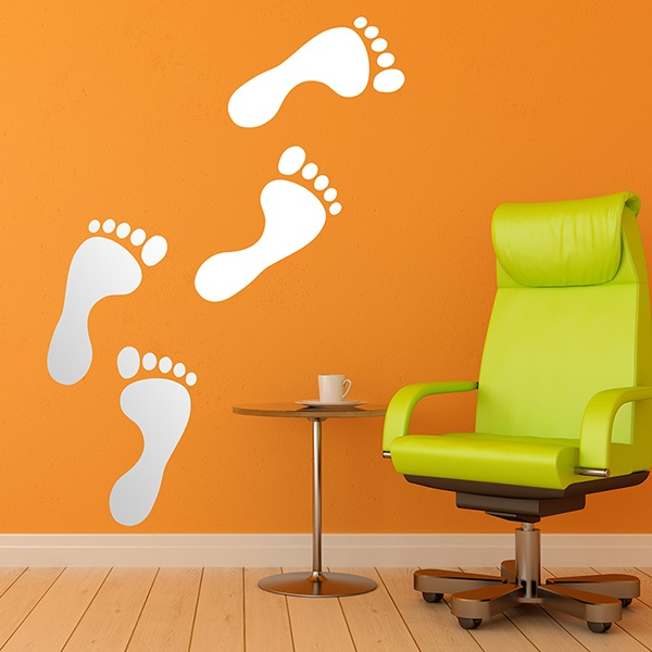 Wall Stickers: Human footprints