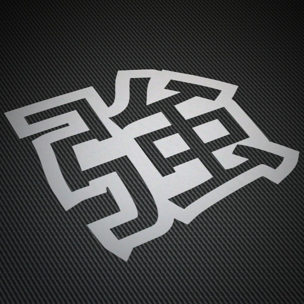 Car & Motorbike Stickers: Kanji Force Contour - Letter b