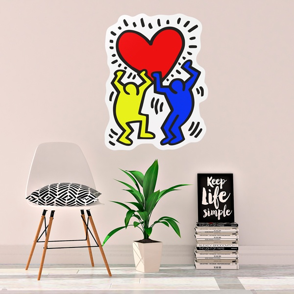Wall Stickers: Holding a heart (Color)