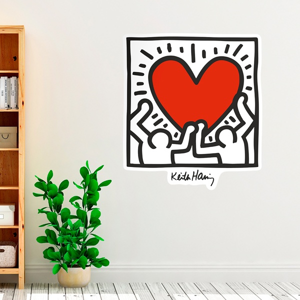 Wall Stickers: Red Heart (color)