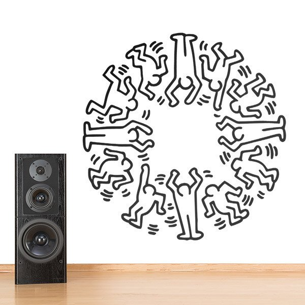 Wall Stickers: Circle Men