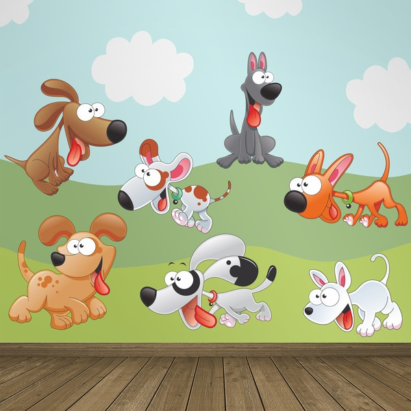 Stickers for Kids: Kit 7 puppies